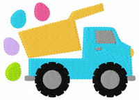 Dump Truck with Easter Eggs