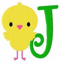 Spring Chick Monogram Embroidery Design Set