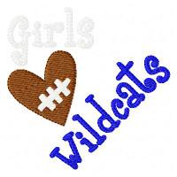 Girls Heart Football Wildcats