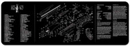 "TEKMAT AK-47 12""x36"" GUN CLEANING MAT (BLACK)"