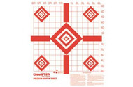 Champion Redfield Precision Sight-In Targets (100 Pack)  Champions Target Redfield Style Sight-In Targets let you confirm your sight-in groups. The Champion Redfield Precision Sight-In Target feature small diamond targets in the four corners, letting you to test results of various ballistic loads. These targets feature highly-visible red-on-white markings, with complete sight-in instructions printed on each target