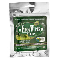 "Froglube Frogwipes CLP Wipes  FrogLube Wipes - 5 saturated cloths per resealable pack These can be cut down for patches or resaturated with FrogLube... With these, FrogLube is just a wipe away.  FROGLUBE® is a cutting edge biodegradable lubricant made from ""USDA Certified Food-Grade"". All ingredients are produced in the USA using a proprietary formula. It is a non-toxic substance that dissolves carbon on contact. It has a heavy specific gravity, which enables it to 'season' the metal by absorption deep into the pores. Using FROGLUBE® results in a durable dry slick wax-like surface that reduces friction, eliminates fouling, and destroys rust. FROGLUBE® is safe for plastic, urethane, nylon, and wood. FROGLUBE®will give your weapon many extended years of service.  FROGLUBE® will not harm the environment. It can be disposed of without the need for prohibitive HAZMAT controls. Employees will be protected from the affects of working in and around toxic chemicals.  FROGLUBE® IS A BIODEGRADABLE LUBRICANT, CLEANER AND PROTECTANT.  CONTAINS NO PETROLEUM OR WATER NON-HAZARDOUS IN EVERY WAY PLEASANT MINT SMELL"