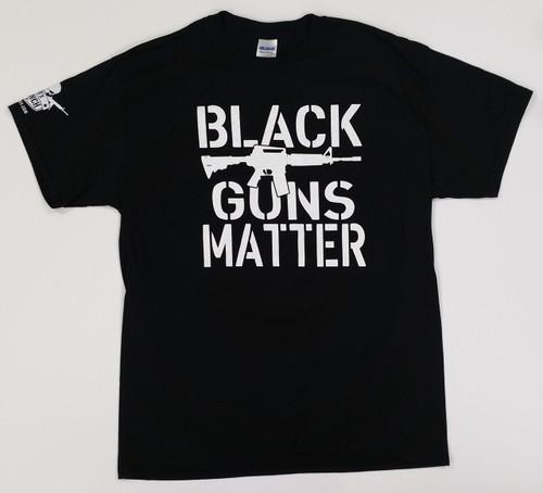 """DD'S RANCH """"BLACK GUNS MATTER"""" T-SHIRT (LOGO ON SLEEVE)"""