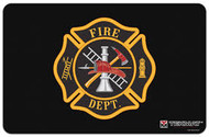 TEKMAT FIRE DEPARTMENT LOGO 11''x17'' GUN CLEANING MAT