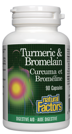 Natural Factors Turmeric & Bromelain (90 caps)
