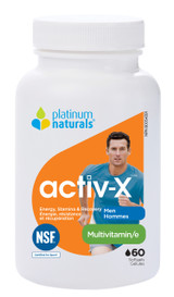 Platinum Naturals activ-X for Men (60 softgels)