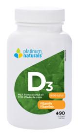 Platinum Naturals Vitamin D3 1000IU (90 softgels)
