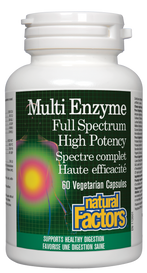 Natural Factors Multi Enzyme Full Spectrum High Potency (60 veg caps)