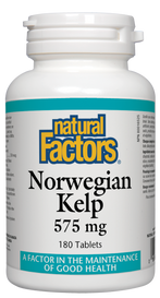 Natural Factors Norwegian Kelp 575 mg (180 tabs)