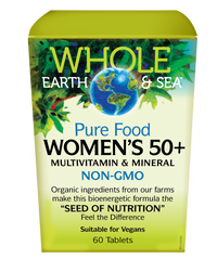 Whole Earth & Sea Women's Multivitamin & Mineral 50+ (60 tabs)