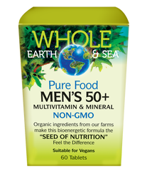 Whole Earth & Sea Men's 50+ Multivitamin & Mineral (60 tabs)