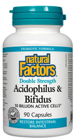 Natural Factors Acidophilus & Bifidus Double Strength (90 caps)