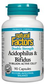 Natural Factors Acidophilus & Bifidus Double Strength (90 caps)