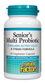 Natural Factors Senior's Multi Probiotic 8 Strain Formula (30 veg caps)