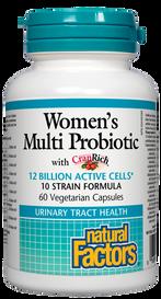 Natural Factors Women's Multi Probiotic with CranRich (60 veg caps)