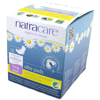 Natracare Ultra Pads Long with Wings (10 pack)