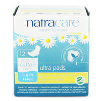 Natracare Ultra Pads Super with Wings (12 pack)