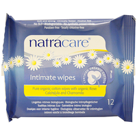 Natracare Organic Intimate Wipes (12 pack)