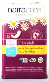 Natracare Maxi Pads Super (12 pack)