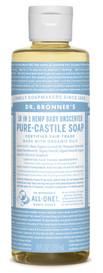 Dr.Bronners Castile Liquid Soap Unscented Baby-Mild (8 oz)