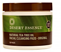 Desert Essence Natural Cleansing Pads with Tea Tree Oil (50 pads)