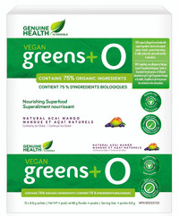 Genuine Health Vegan Greens+ O Acai Mango (10 x 8.8g sachets)