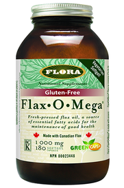 Flora Flax O Mega Flax Oil (180 softgels)