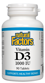 Natural Factors Vitamin D3 1000 IU (90 tablets)