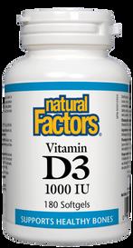Natural Factors Vitamin D3 1000 IU (180 softgels)
