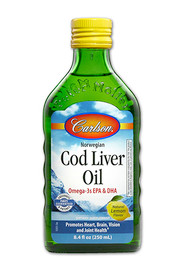 Carlson Cod Liver Oil Lemon Liquid (250 mL)