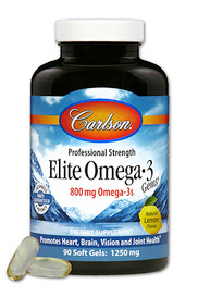 Carlson Elite Omega 3 Gems Lemon (90 + 30 softgels)