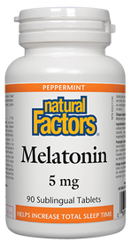 Natural Factors Melatonin 5 mg Peppermint (90 tabs)