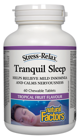 Natural Factors Tranquil Sleep Tropical Fruit (60 chew tabs)