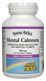 Natural Factors Mental Calmness 100 mg (60 chew tabs)