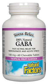 Natural Factors GABA 100 mg Tropical Fruit (60 chews)
