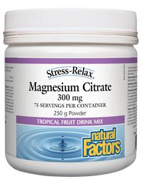 Natural Factors Magnesium Citrate Tropical Fruit 300mg (250 g)