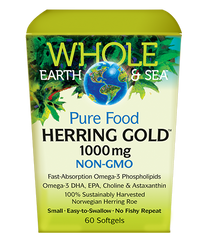 Natural Factors Whole Earth & Sea Herring Gold 1000 mg (60 softgels)