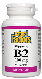 Natural Factors Vitamin B2 (90 tabs)