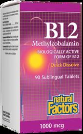 Natural Factors B12 Methylcobalamin 1000 mcg (90 sub tabs)