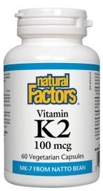 Natural Factors Vitamin K2 100 mcg (60 veg caps)