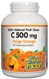 Natural Factors C 500 mg 100% Natural Fruit Chew Tangy Orange (90 chews)