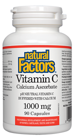 Natural Factors Vitamin C 1000 mg Calcium Ascorbate (90 caps)