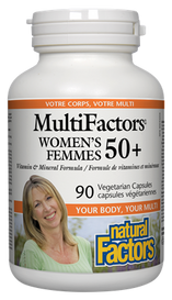 Natural Factors MultiFactors Women's 50+ (90 veg caps)