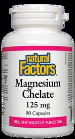 Natural Factors Magnesium Chelate 125 mg (90 caps)
