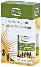 St. Francis Vitamin D for All 1000 IU (30 mL)