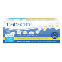 Natracare Organic Cotton Non-Applicator Tampons 20/box (Choose Type)