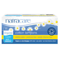 Natracare Organic Cotton Tampons with Applicator 16/box (Choose Type)