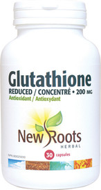 New Roots Glutathione Reduced 200mg (30 caps)