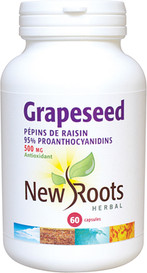 New Roots Grapeseed Extract 500mg (60 caps)