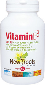 New Roots Vitamin E8 400IU (60 softgels)